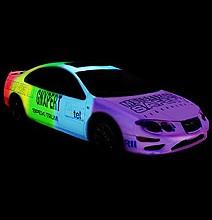 Leuchtender autolack