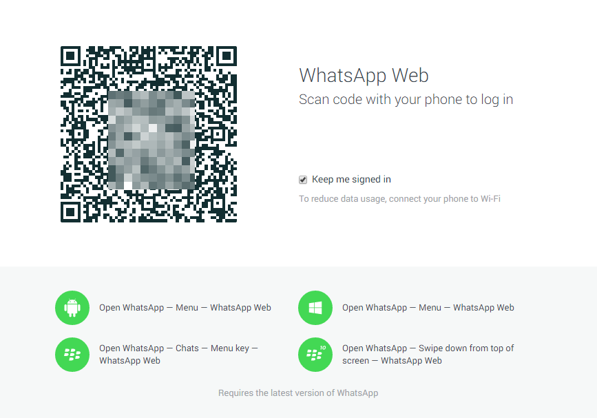 WhatsApp Webversion