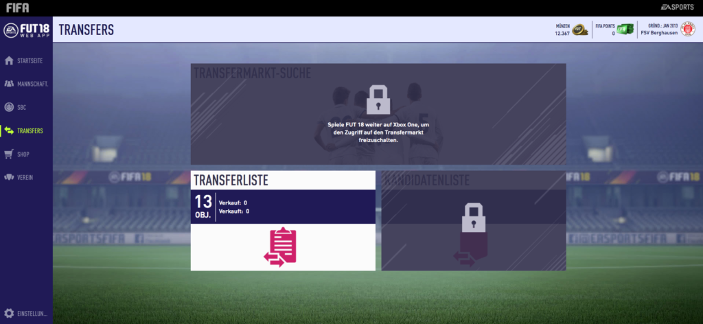 FIFA 18: FUT 18 - Transfermarkt freischalten