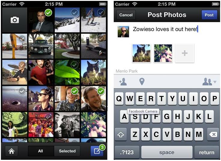 [Fundstück] Facebook jetzt mit eigener Kamera App