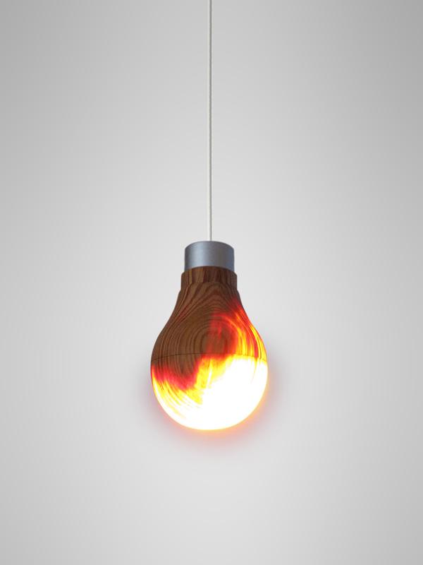 [Fundstück] Glühbirne aus Holz