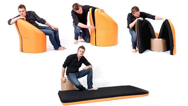 [Fundstück] Sessel mit eingebautem Bett