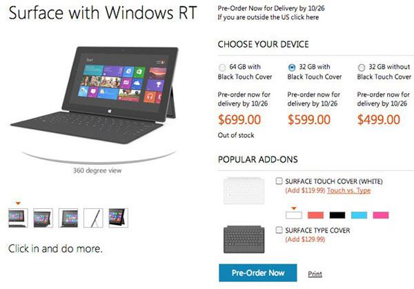Microsoft Surface Preise bekannt [Update]