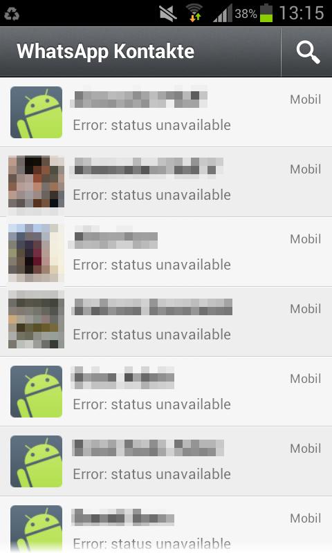 Statusprobleme und Kettenbrief bei WhatsApp
