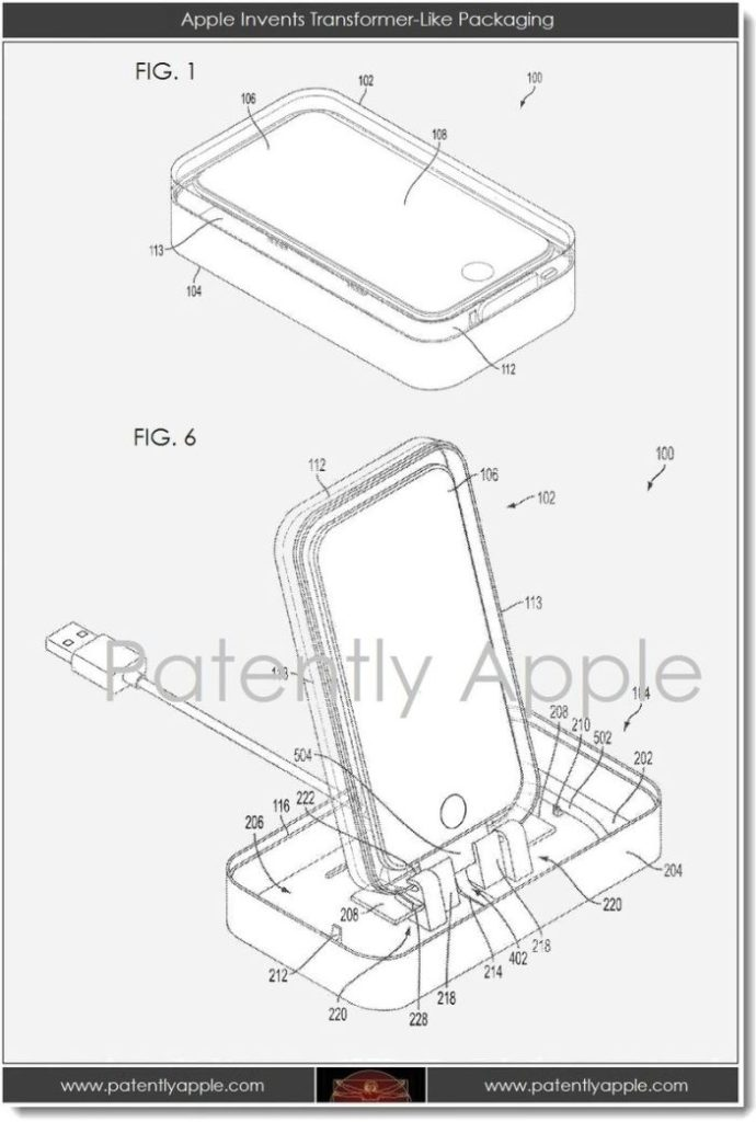 Apple Patent macht iPhone Verpackungen zur Docking-Station