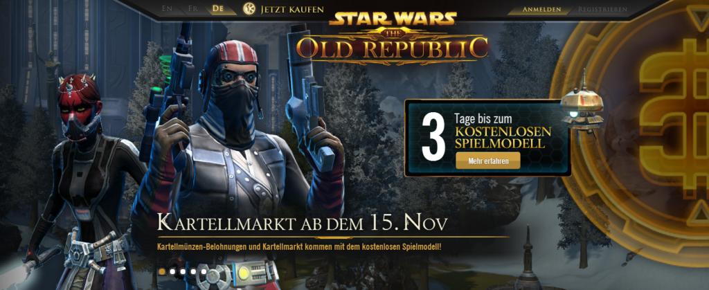 Star Wars – The Old Republic ab dem 15. November kostenlos