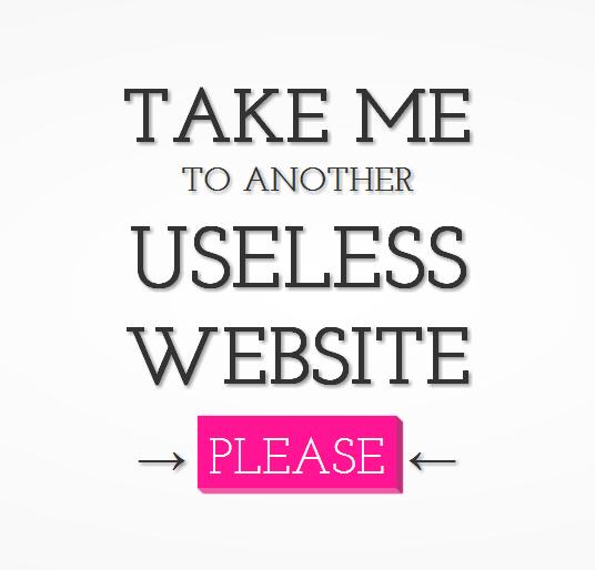 [Fundstück] The Useless Web