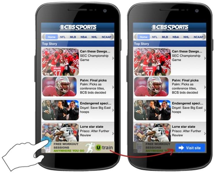 Neue mobile Werbebanner für Android
