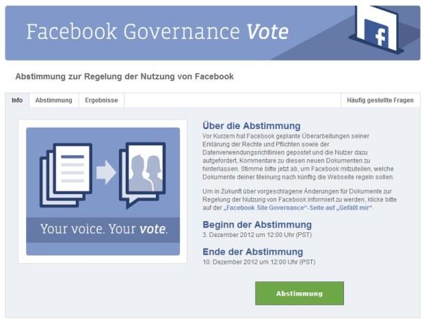 Abstimmung zur Regelung der Nutzung beginnt heute