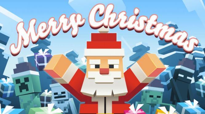 Minecraft Weihnachtslied steig in die Charts ein