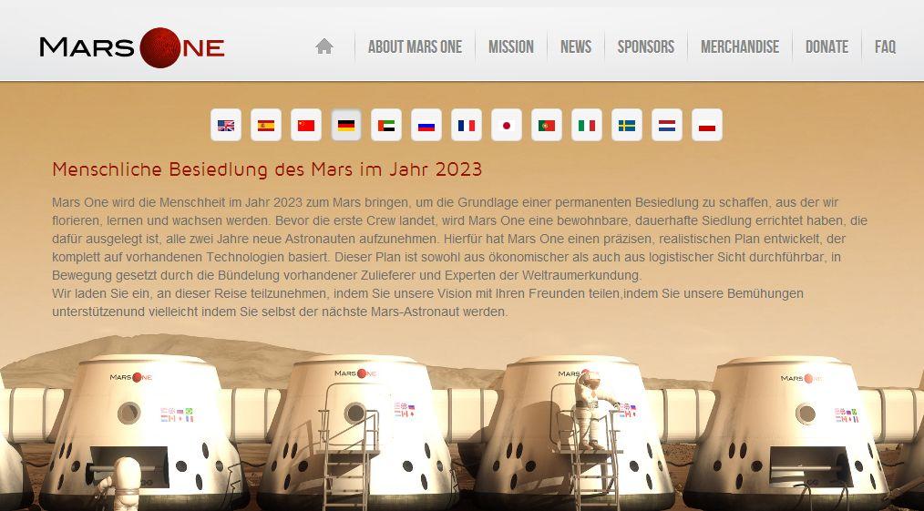 Mars-Kolonisten gesucht