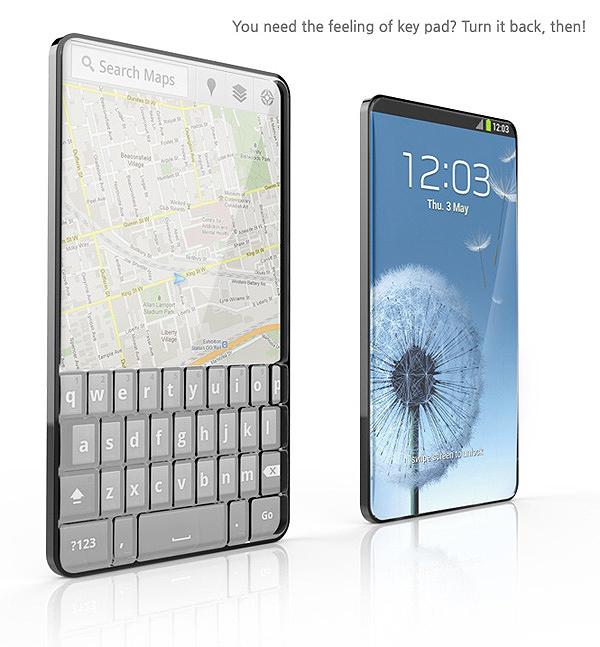 Bubble Touch – Smartphone mit 2 Tastaturen