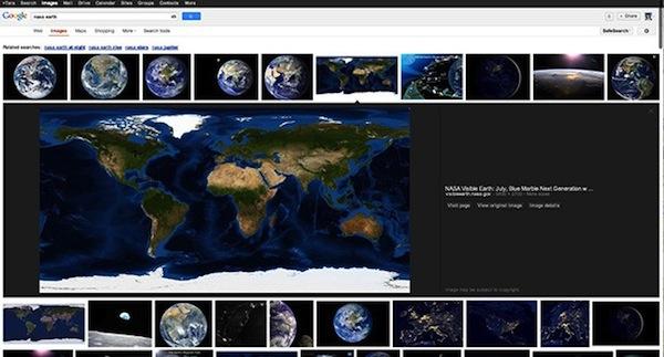 Neues Design für Google-Bildersuche