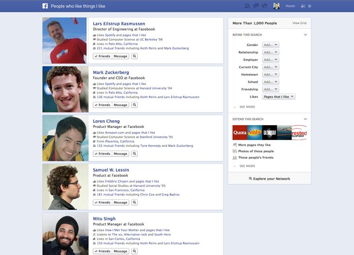 Facebook stellt Graph Search vor