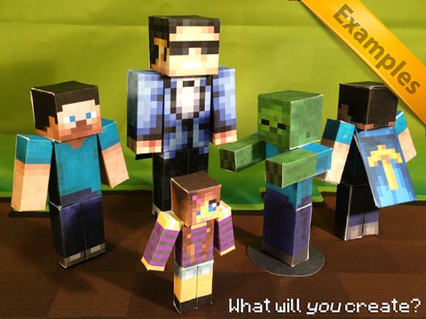 App für Minecraft Papercraft