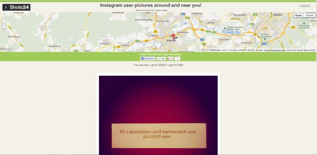 Instagram-Fotos aus deiner Nähe entdecken