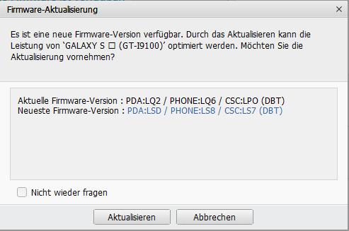 Galaxy S2: Android 4.1.2 jetzt auch in Deutschland