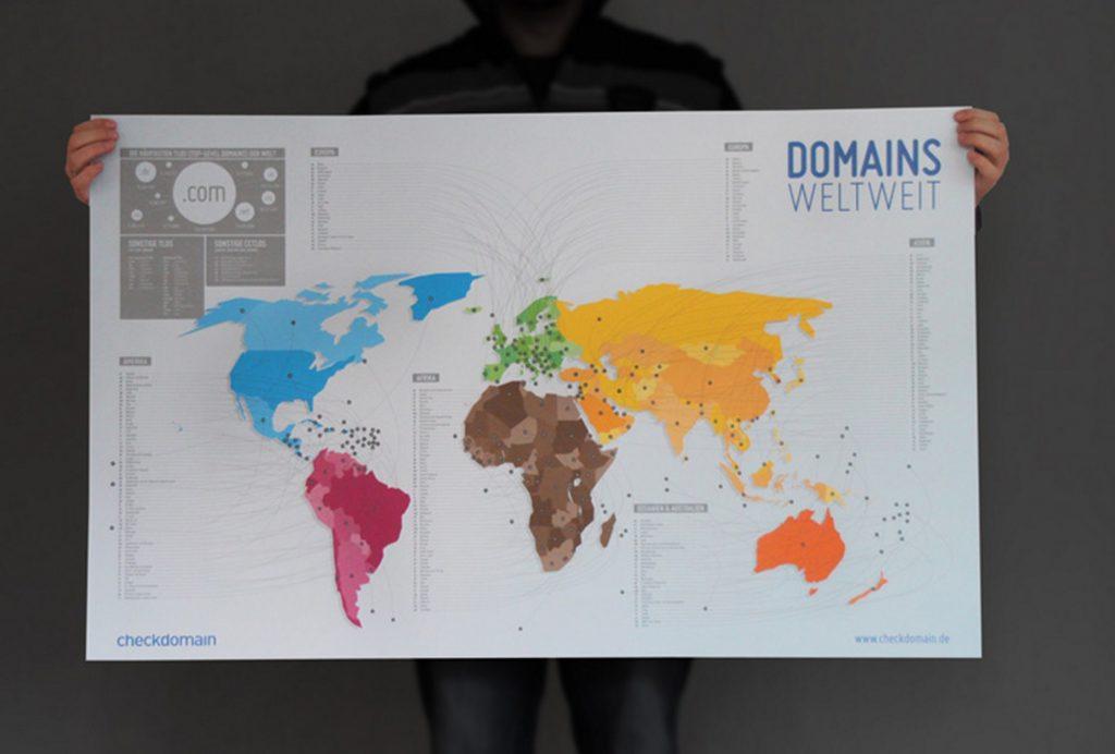 Domain-Weltkarte für Blogger kostenlos – eine Aktion für die Kinderkrebshilfe
