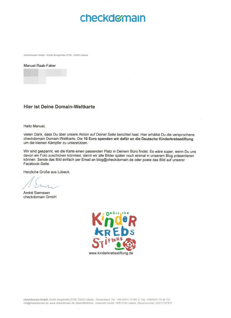 10 Euro an die Deutsche Kinderkrebsstiftung