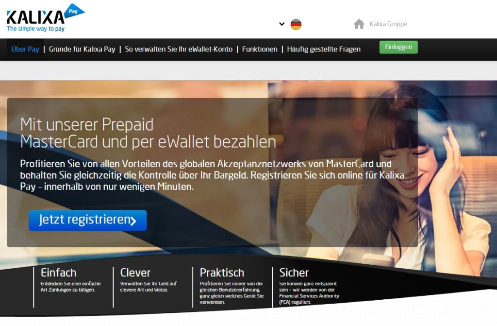 Kalixa – die Prepaid MasterCard