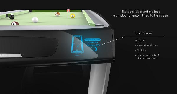 Novus – Billardtisch mit Touchscreen