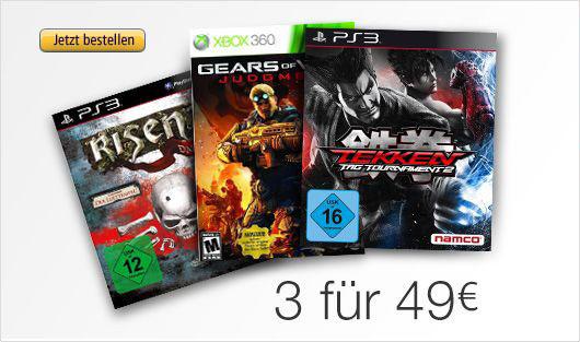 3 Games für nur 49 Euro