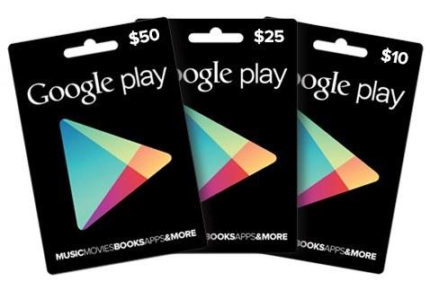 Bei welchen Händlern gibt es die Google-Play-Geschenkkarten?