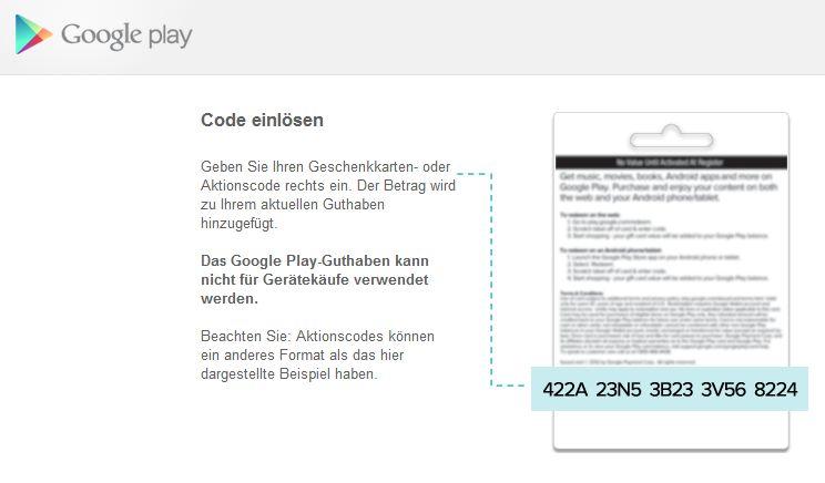 Google Play Geschenkkarten jetzt auch in Deutschland