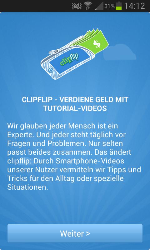 Geld verdienen mit dem Smartphone #1: ClipFlip [Update]