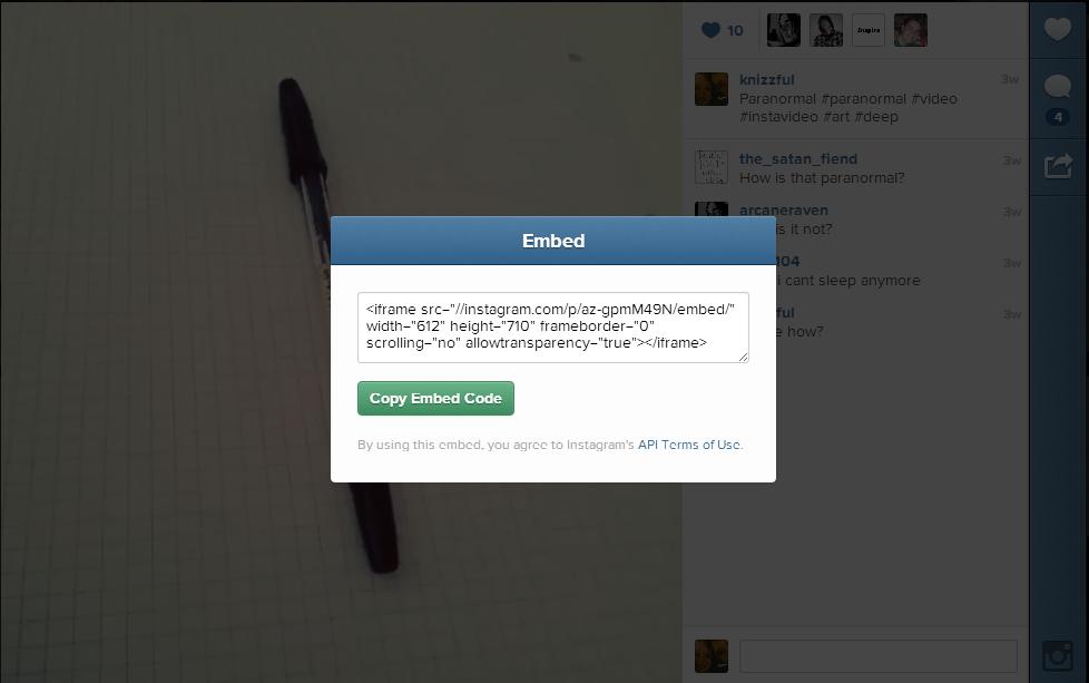 Instagram Bilder und Videos in Website einbinden