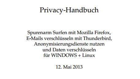 [Fundstück] Kostenloses Privacy Handbuch