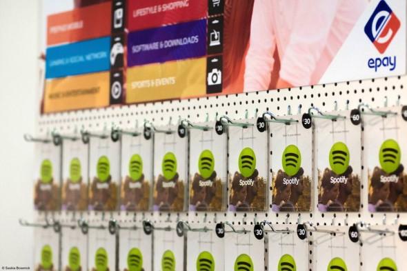 Spotify-Gutscheinkarten im Handel
