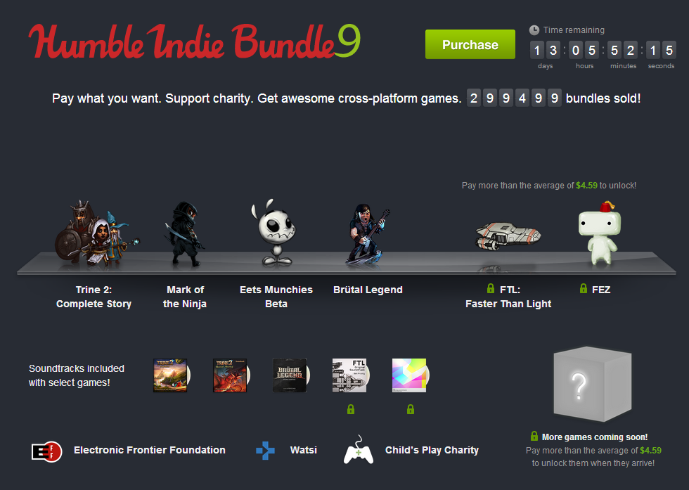 Humble Indie Bundle 9: Brütal Legend, Trine 2, Mark of the Ninja und mehr!