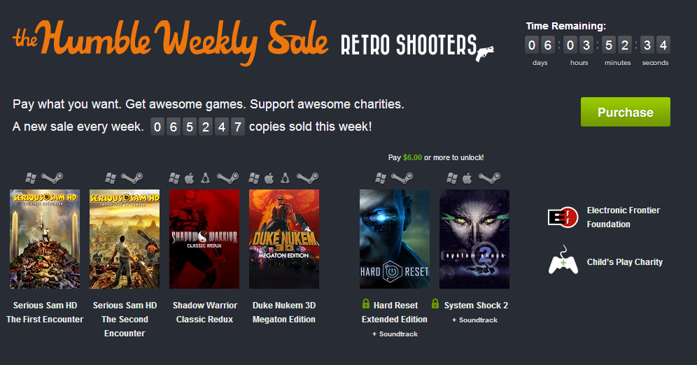 Humble Weekly Sale KW 37: Retro Shooters