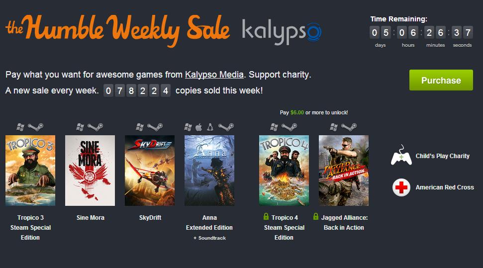 Humble Weekly Sale KW 39: Kalypso