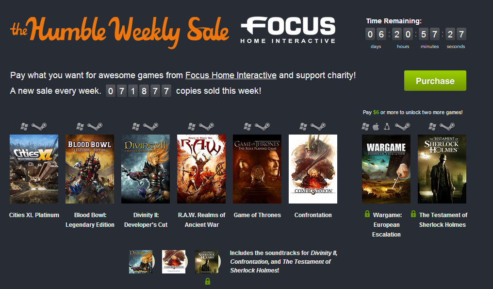 Humble Weekly Sale KW 41: Focus Home Interactive