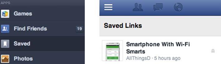 """Facebook bald mit """"Später lesen""""-Funktion?"""