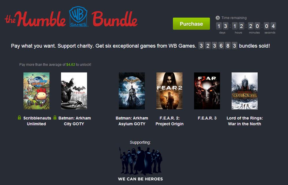 Humble Bundle: WB Games