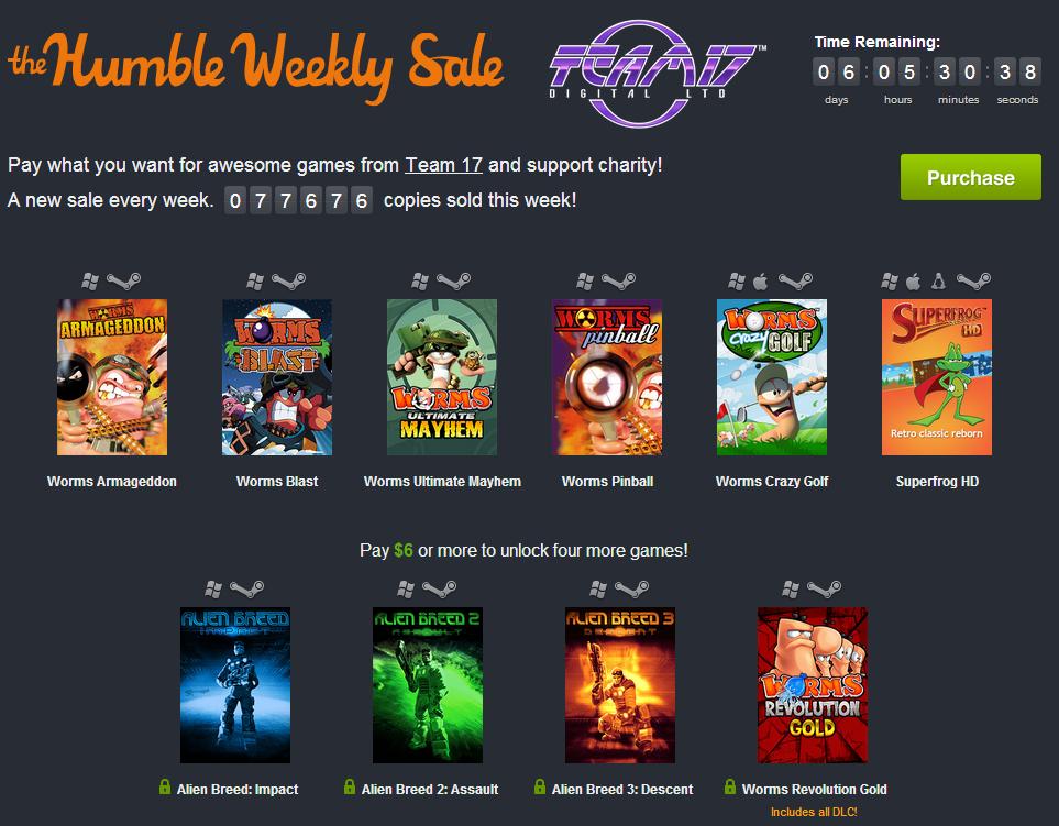 Humble Weekly Sale KW 44: Team 17