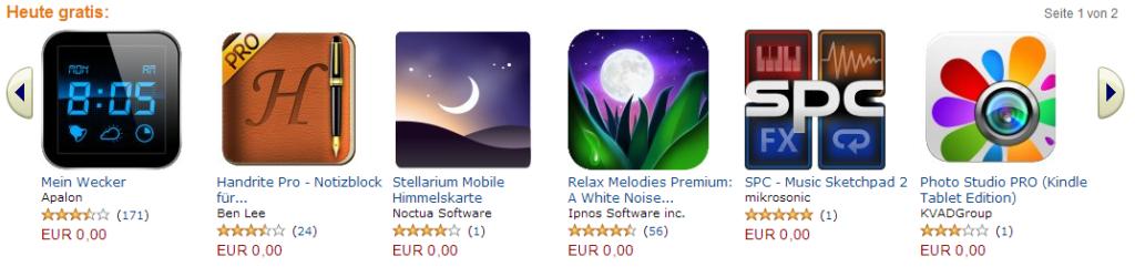 Amazon App-Shop: gratis Apps für die Weihnachtszeit