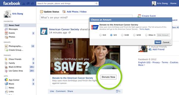 Facebook: Spendenfunktion in den USA ausgerollt