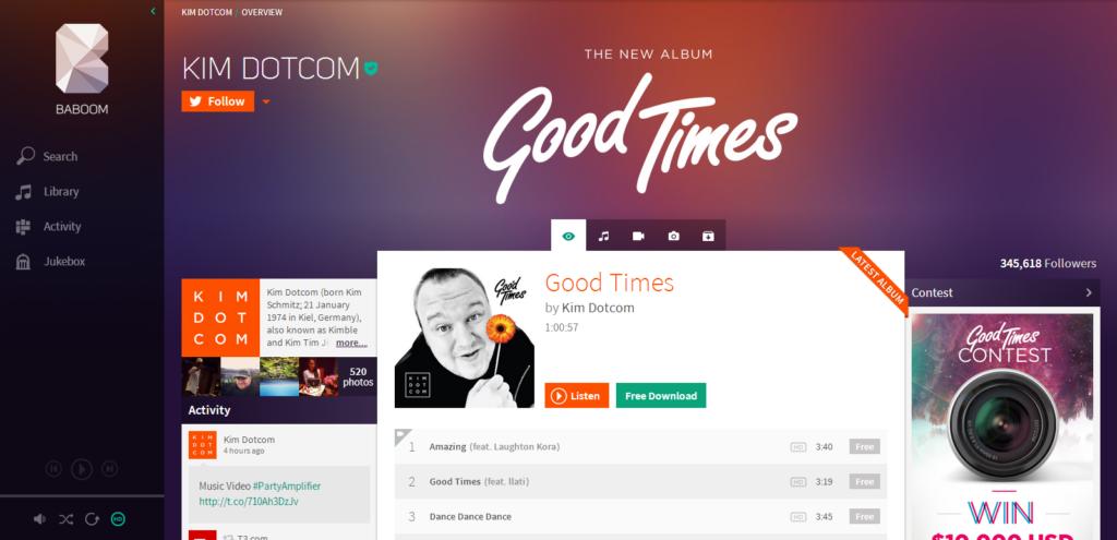 Baboom: Kim Dotcom startet Spotify-Konkurrent