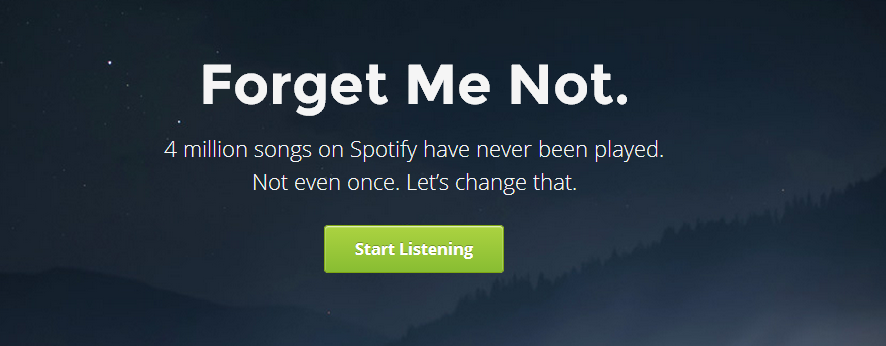 Forgotify: Songs die bei Spotify noch nie gespielt wurden