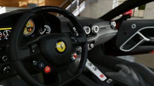 Der Innenraum eines Ferrari, sehr detailgetreu.