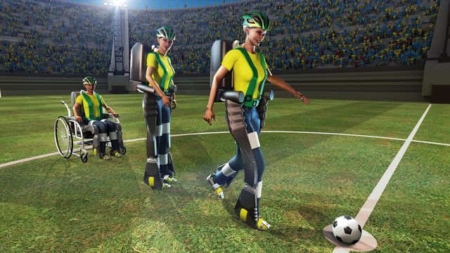 Fußball-WM 2014: Gedankengesteuertes Exoskelett eröffnet das Turnier