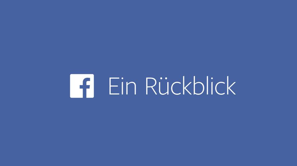 Facebook Rückblick: Video selbst gestalten