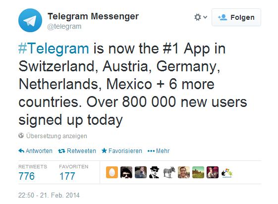 Telegram & Threema: So sieht der Nutzerzuwachs aus