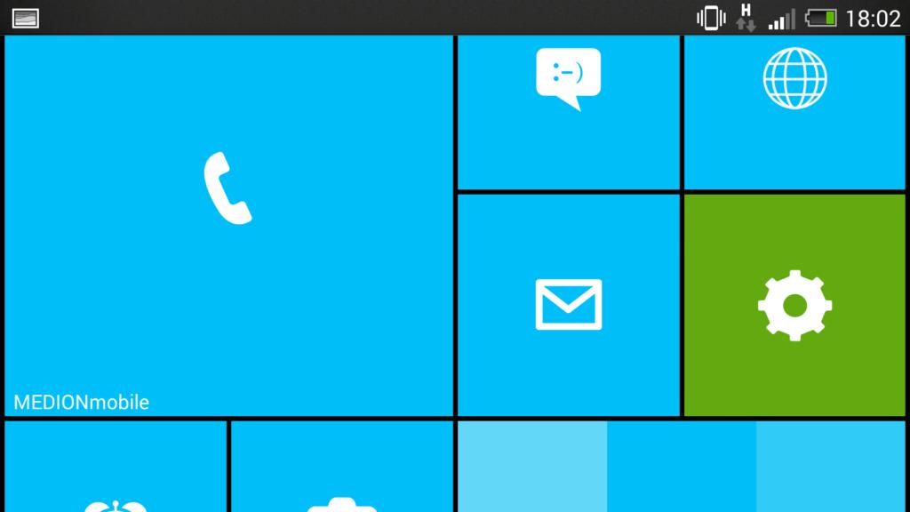 Windows 8 Oberfläche für Android mit Launcher 8