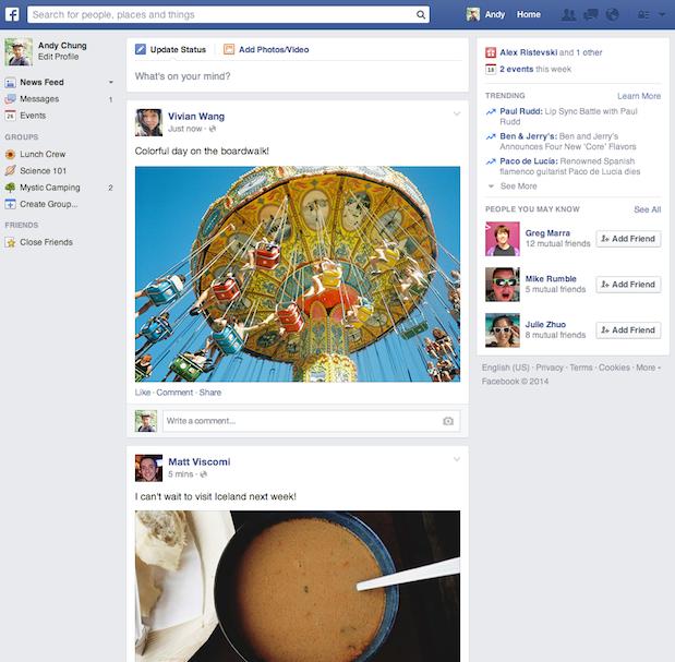 Facebook: Neues Design im Anmarsch