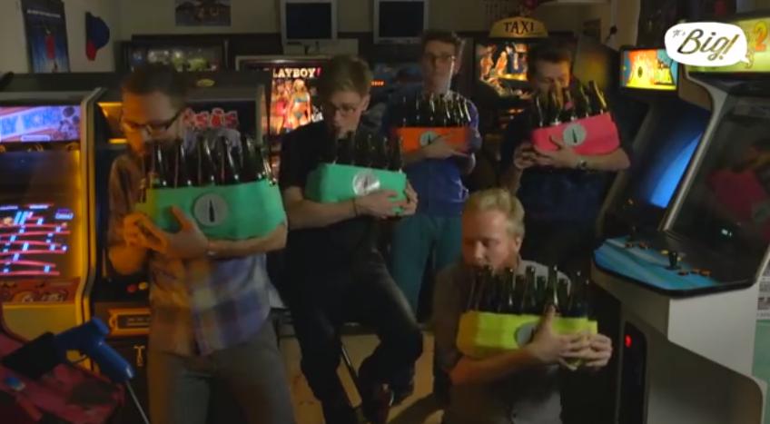 [Fundstück] Video Game Medley auf Flaschen gespielt